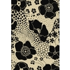 Shaw Living Ebony Wildflowers 3-ft 10-in x 5-ft 6-in Rectangular Beige Floral Area Rug