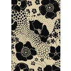 Shaw Living Ebony Wildflowers 5-ft 5-in x 7-ft 8-in Rectangular Beige Floral Area Rug