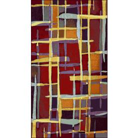 Shaw Living Carnivale 5-ft 5-in x 7-ft 8-in Rectangular Red Transitional Area Rug