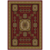 Shaw Living Pueblo 63-in x 94-in Rectangular Red/Pink Geometric Area Rug