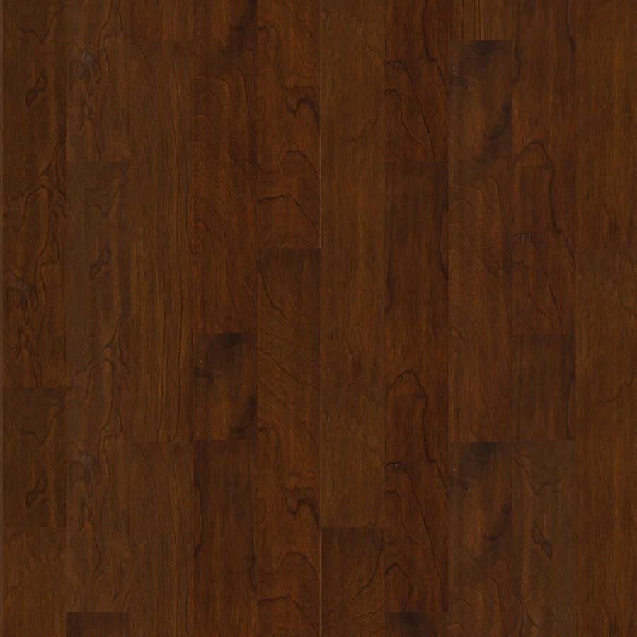 Shop shaw 5 in w prefinished copaiba engineered hardwood for Prefinished flooring