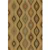 allen + roth Laporte 65-in x 92-in Rectangular Brown/Tan Geometric Area Rug