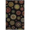 Shaw Living Dervish 5-ft x 7-ft 9-in Rectangular Black Transitional Area Rug