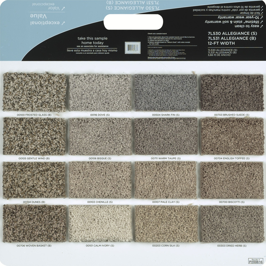 Shop Shaw Multicolor Polyester Texture Carpet Sample at