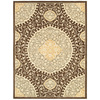 allen + roth Thorndale 7-ft 9-in x 10-ft 3-in Rectangular Tan Floral Area Rug