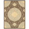 allen + roth Thorndale 9-ft 6-in x 14-ft 6-in Rectangular Tan Floral Area Rug