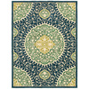 allen + roth Thorndale 7-ft 9-in x 10-ft 3-in Rectangular Blue Floral Area Rug