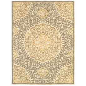 allen + roth Thorndale 7-ft 9-in x 10-ft 3-in Rectangular Gray Floral Area Rug