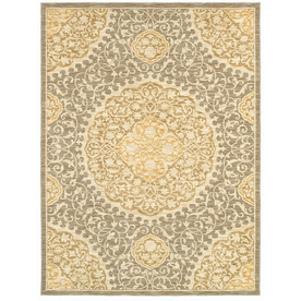 allen + roth Thorndale Rectangular Gray Floral Woven Area Rug (Common: 10-ft x 13-ft; Actual: 9.5-ft x 12.83-ft)