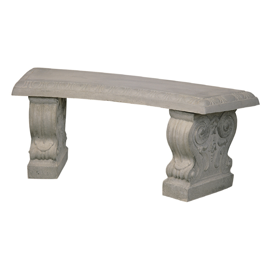 Shop 43 in l concrete patio bench at Lowes garden bench