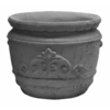 13-in H x 17-in W x 16-in D Ap Concrete Planter