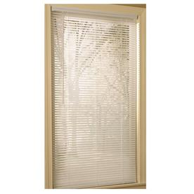 Project Source 1-in White Vinyl Light Filtering Mini-Blinds (Common 29-in; Actual: 28.5-in x 64-in)