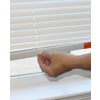 Project Source 1-in White Vinyl Light Filtering Mini-Blinds (Common 35-in; Actual: 34.5-in x 64-in)