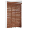 allen + roth 27-in W x 64-in L Oak Wood 1-1/2-in Slat Room Darkening Horizontal Blinds