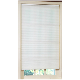 allen + roth White Light Filtering Cordless Polyester Cellular Shade (Common 71-in; Actual: 71-in x 64-in)