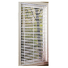 Project Source 1-in White Vinyl Room Darkening Mini-Blinds