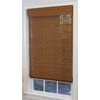 Style Selections 35-in W x 72-in L Pecan Light Filtering Natural Roman Shade
