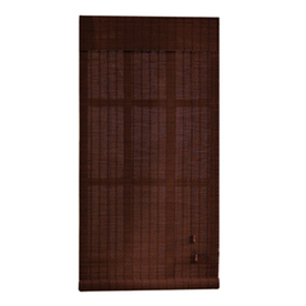 Shop Style Selections 72 In L Pecan Light Filtering Bamboo Roll Up Shade At L