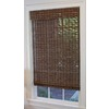 Style Selections 31-in W x 72-in L Cocoa Light Filtering Natural Roman Shade
