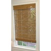 Style Selections 27-in W x 72-in L Pecan Light Filtering Natural Roman Shade
