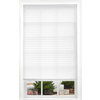 allen + roth White Light Filtering Cordless Polyester Pleated Shade (Common 23-in; Actual: 23-in x 72-in)