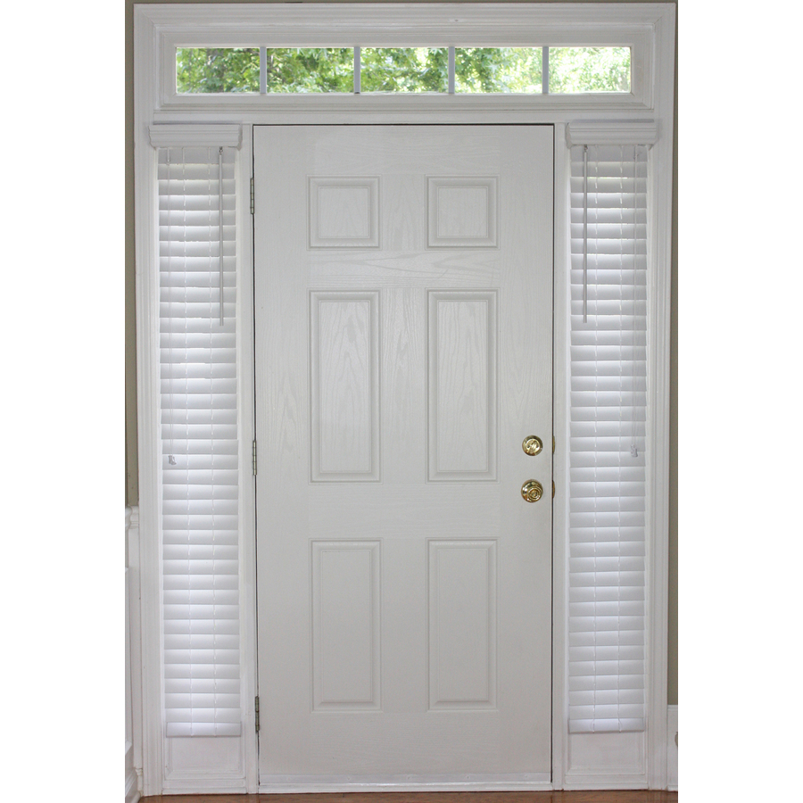 Shop style selections white faux wood 2 in slat room darkening sidelight plantation blinds