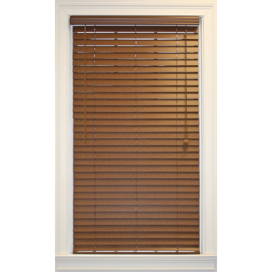 shop style selections bark faux wood 2 in slat room