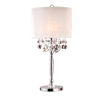 Ok 29.5-in Polished Chrome Touch On/Off Indoor Table Lamp with Fabric Shade