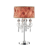 Ok 32.5-in Polished Chrome Touch On/Off Indoor Table Lamp with Fabric Shade
