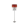 OK 63.5-in 3-Way Switch Polished Chrome Indoor Floor Lamp with Fabric Shade