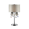 Ok 29-in Polished Chrome Indoor Table Lamp with Fabric Shade