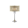 Ok 31-in Polished Chrome Touch On/Off Indoor Table Lamp with Fabric Shade