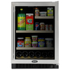 MARVEL 5.8 cu ft Black Undercounter Beverage Center