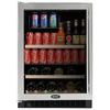 MARVEL 6.1 cu ft Black Undercounter Beverage Center