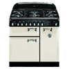 AGA Legacy 36-in 5-Burner 2.2-cu ft/1.8-cu ft Double Oven Convection Dual Fuel Range (Ivory)