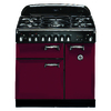 AGA Legacy 36-in 5-Burner 2.2-cu ft/1.8-cu ft Double Oven Convection Dual Fuel Range (Cranberry)