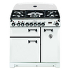 AGA Legacy 36-in 5-Burner 2.2-cu ft/1.8-cu ft Double Oven Convection Dual Fuel Range (Vintage White)