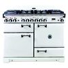 AGA Legacy 44-in 6-Burner 2.4-cu ft/2.4-cu ft Double Oven Convection Dual Fuel Range (Vintage White)