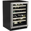 MARVEL 40-Bottle Stainless Steel Dual Zone Built-In/Freestanding Wine Chiller