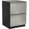 MARVEL 23.875-in Built-In/Freestanding Drawer Refrigerator (Black)