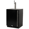 MARVEL Half-Barrel Black Digital Built-In/Freestanding Kegerator