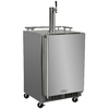 MARVEL Half-Barrel Stainless Steel Digital Freestanding Kegerator