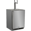 MARVEL Half-Barrel Stainless Steel Digital Built-In/Freestanding Kegerator