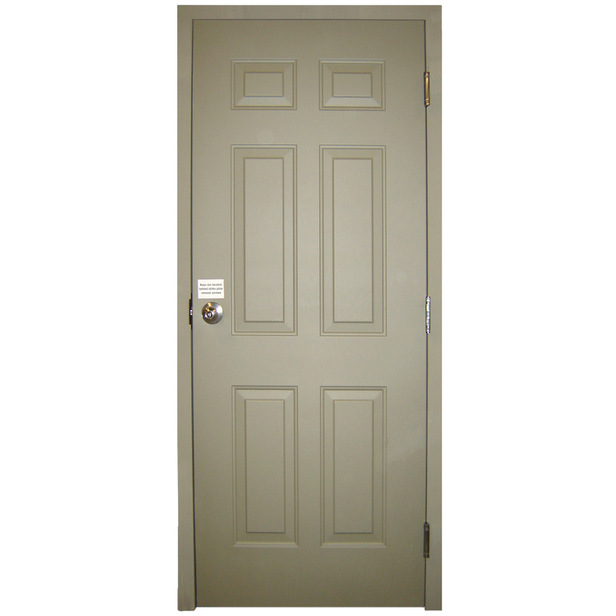 shop milliken fire resistant 6 panel prehung inswing steel entry door