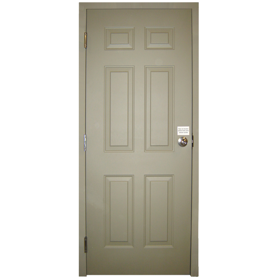 Shop Milliken Fire Resistant 6 Panel Prehung Inswing Steel Entry Door Common