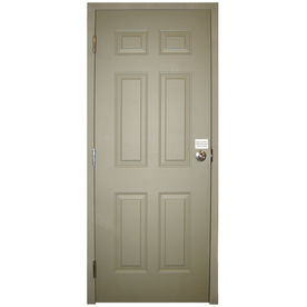 Milliken 6-Panel Prehung Entry Door (Common: 36-in x 80-in; Actual: 36-in x 80-in)