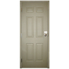Milliken 36-in x 80-in Fire Resistant 6-Panel Prehung Inswing Steel Entry Door