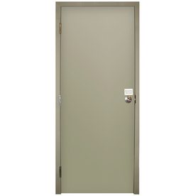 Shop Milliken Fire Resistant Flush Prehung Inswing Steel Entry Door Common