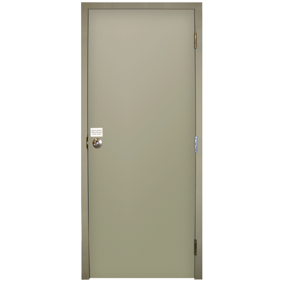 Shop milliken fire resistant flush prehung inswing steel for Metal entry doors