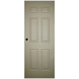 Shop Milliken 6 Panel Slab Entry Door Common 36 In X 80 In Actual 36 In X